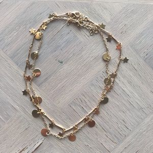NEW (2) Gold Layering Necklaces